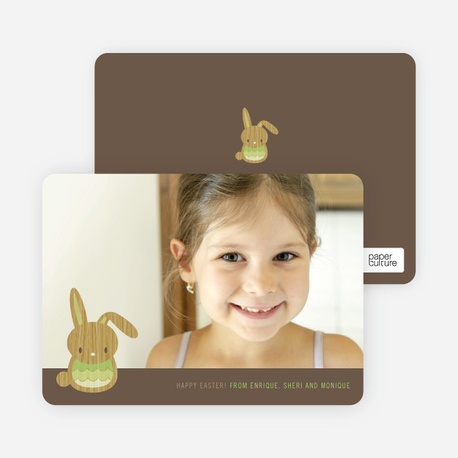 Bunny Wink Easter Photo Cards - Pistachio
