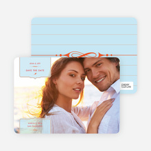 Chic and Modern Save the Date Cards - Glacier
