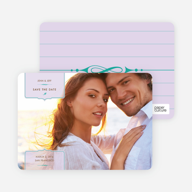 Chic and Modern Save the Date Cards - Pale Wisteria