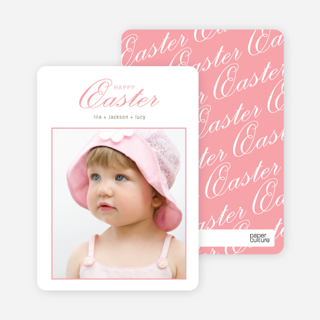 Classic and Fancy Happy Easter Cards - Pink