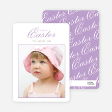 Classic and Fancy Happy Easter Cards - Purple