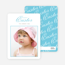 Classic and Fancy Happy Easter Cards - Blue