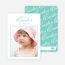 Classic and Fancy Happy Easter Cards - Green