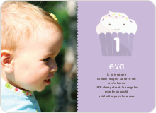 Cupcake Birthday Invitation - Lavender
