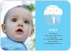 Cupcake Birthday Party Photo Invitation - Sky Blue