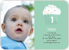 Cupcake Birthday Invitation - Bamboo Green