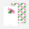 Thank You Card for Momma and Baby Elephant Baby Shower Invitation - Cotton Candy