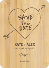 Tree Carving Save the Dates - Bamboo
