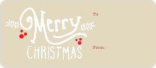 Christmas Script - Brown