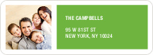 Color Block Return Address Labels - Green
