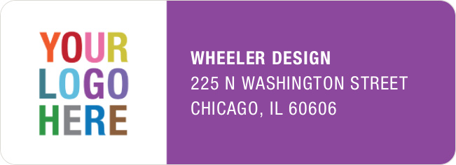 Company Logo Return Address Labels - Purple