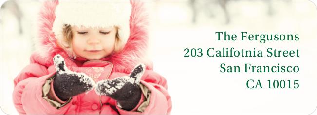 Full Photo Label Custom Address Labels - Green