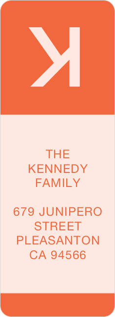 Helvetica Wrap Custom Address Labels - Orange