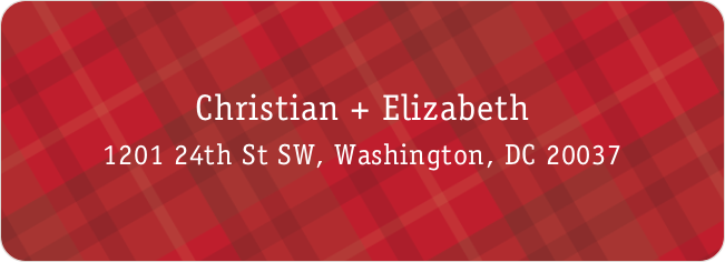 Plaid Address Labels - Red