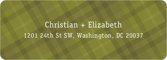 Plaid Address Labels - Green
