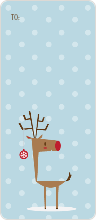 Reindeer Snow - Blue