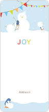 Gift Tag Stickers: Snowman - Blue