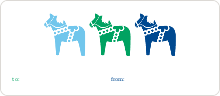 Three Horses - Blue