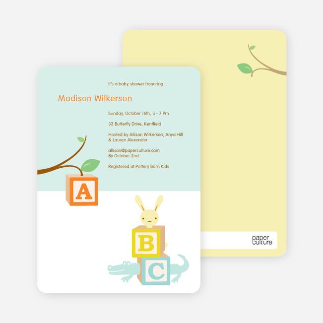Alphabet blocks baby shower invitation paper culture filmwisefo
