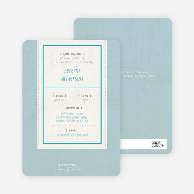 Baby Ticket Baby Shower Invitations - Glacier