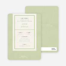 Baby Ticket Baby Shower Invitations - Lime Tree