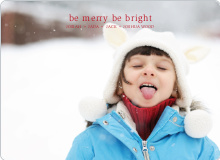 be merry, be bright – text and photo card - Raspberry