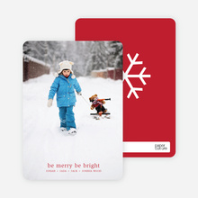 be merry, be bright – text and photo card - Ruby