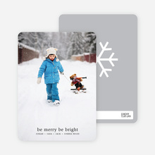 be merry, be bright – text and photo card - White