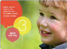 Birthday Balloons Kid Party Invitations - Fire Hydrant