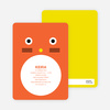 Cat Face Modern Birthday Invitation - Rust Orange