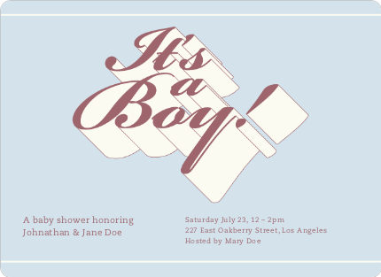 Chic 3D Graffiti Baby Shower Invitations - Precious