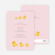 Ducks in a Row - Classical Pink