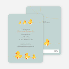 Ducks in a Row Baby Shower Invitations - Blue Bathtub