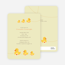 Ducks in a Row Baby Shower Invitations - Lemonade