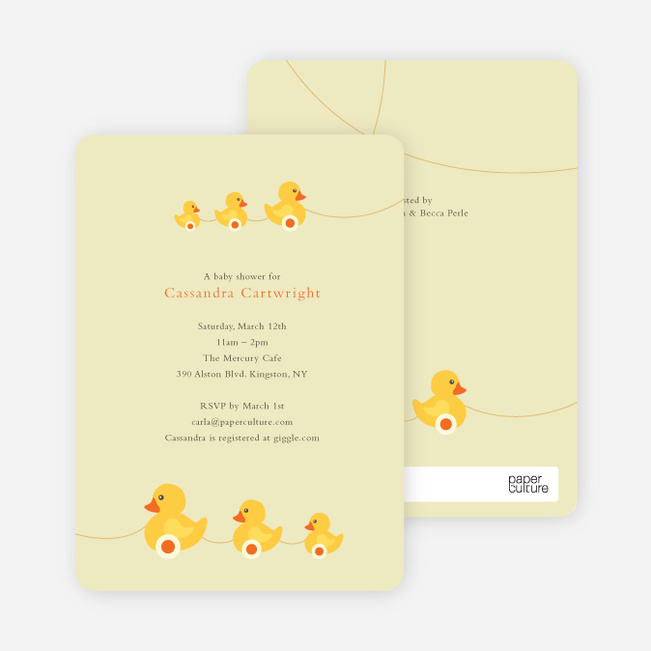 ... Ducks In A Row Baby Shower Invitations   Lemonade ...