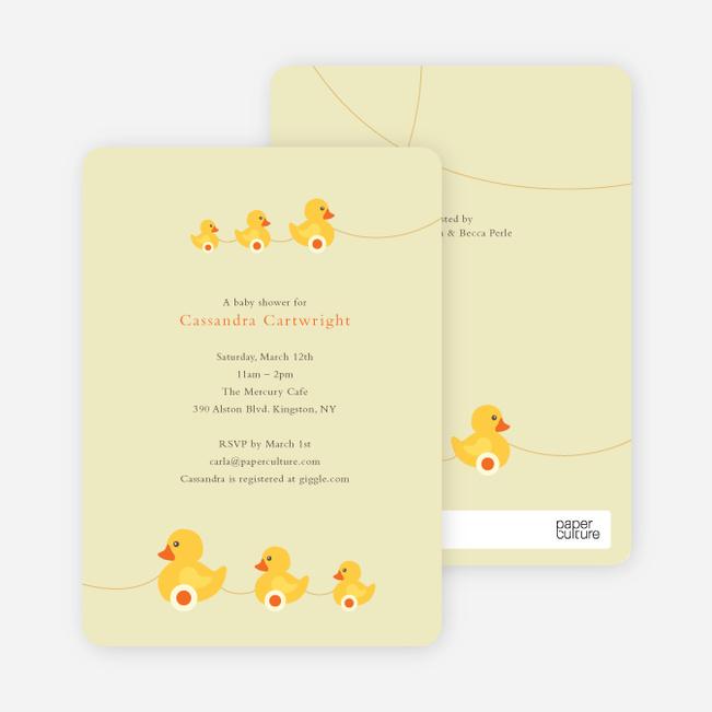Ducks in a Row Baby Shower Invitations - Lemonade