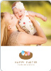 Easter Egg Nest Photo Cards - Blue Egg