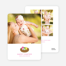 Easter Egg Nest Photo Cards - Pink Moon