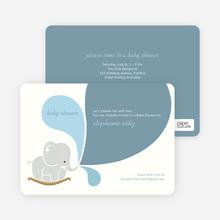 Elephant Rocker Baby Shower Invitations - Elephant Spout