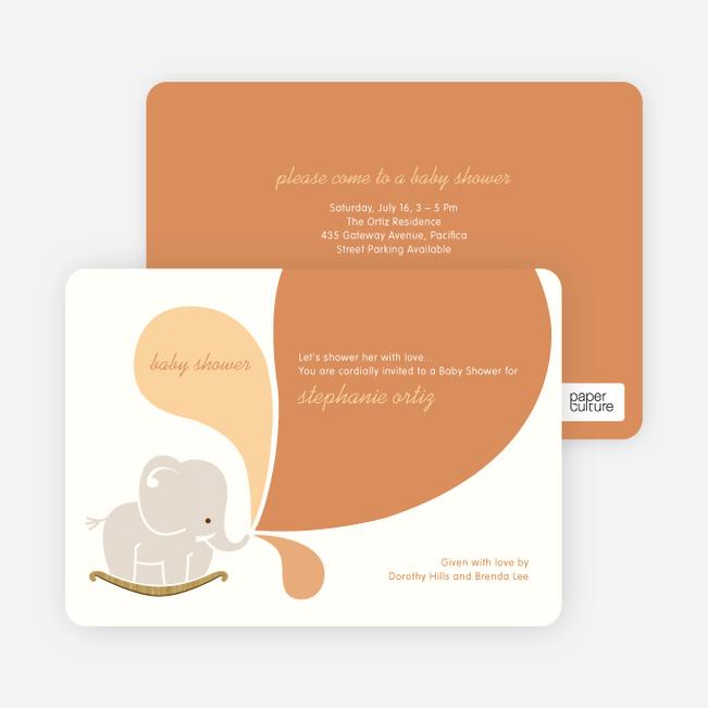 Elephant Rocker Baby Shower Invitations - Orangutan