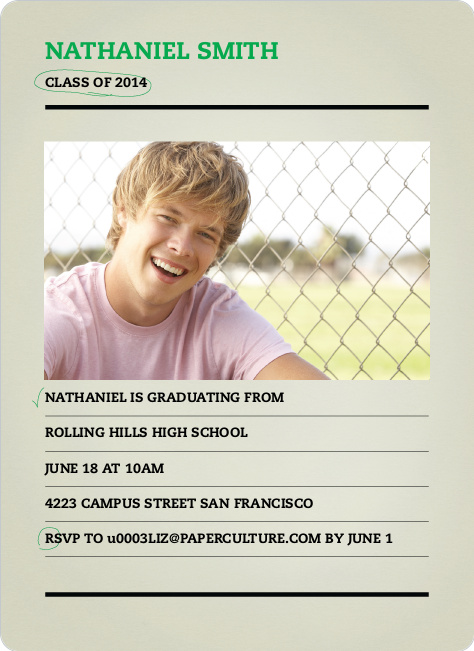 Final Exam Graduation Announcements - Emerald Green