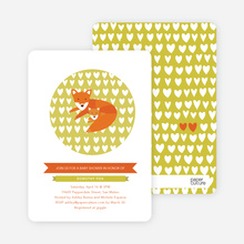 Foxy Mama-to-Be Baby Shower Invitations - Avocado