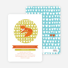 Foxy Mama–to–Be Baby Shower Invitations - Puddle Splash