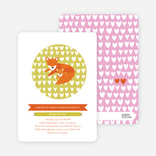 Foxy Mama-to-Be Baby Shower Invitations - Bubble Gum