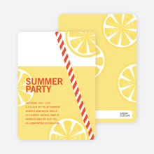 Fresh Lemonade Bridal Shower Invitations - Red
