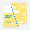 Fresh Lemonade Bridal Shower Invitations - Blue