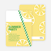 Fresh Lemonade Bridal Shower Invitations - Green