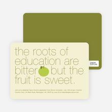 Graduation Fruit Invitations - Green Apple