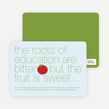 Graduation Fruit Invitations - Red Apple