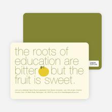 Graduation Fruit Invitations - Orange Sherbert